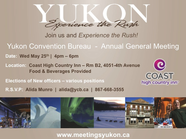 You're Invited ! YCB AGM – Wednesday May 25th